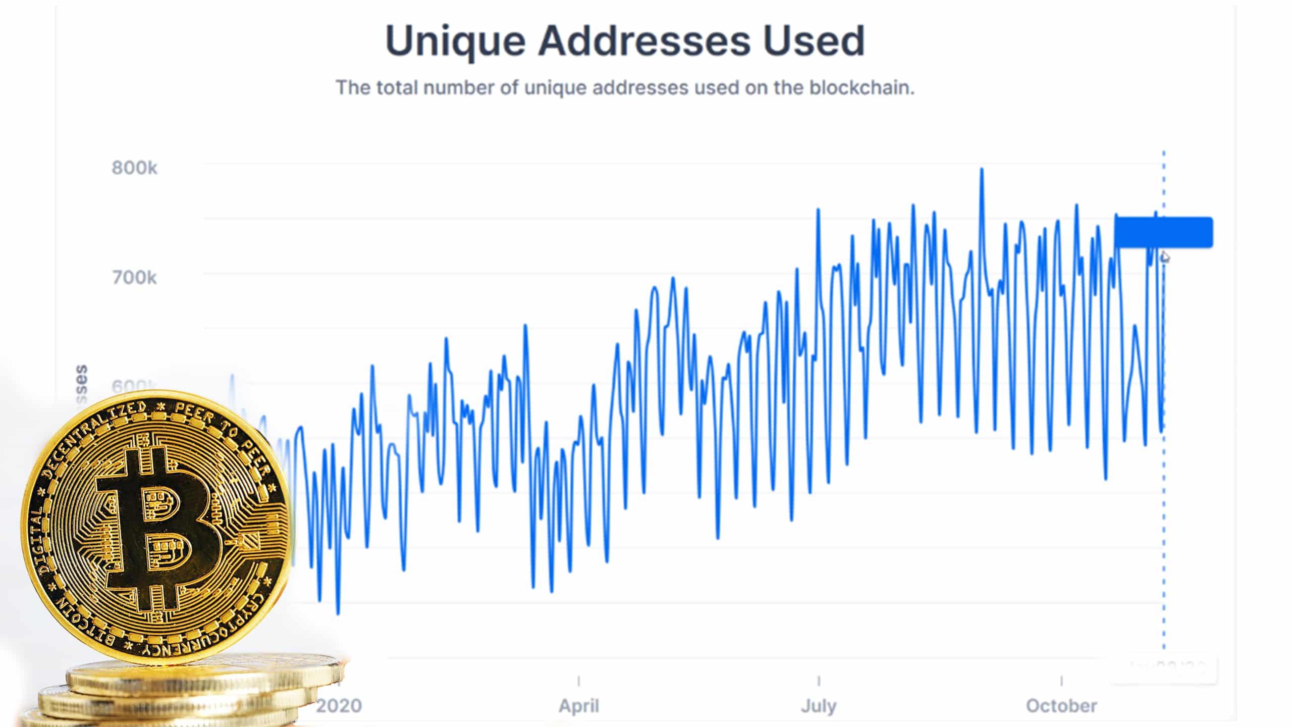22.3 میلیون آدرس بیت کوین در ماه ژانویه فعال بوده است